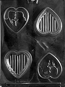 Cybrtrayd W048 Silhouette Lover Pour Box Wedding Chocolate Candy Mold