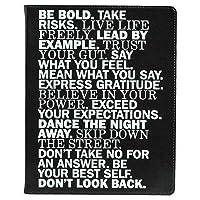 200;ccolo Eccolo 桌面日记本,窄横格,25.4 x 20.3 cm,256 张 - 鼓舞人心的单词黑色