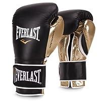 Everlast 高级皮革 453.59 克 POWERLOCK 钩环训练手套