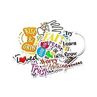 防水贴纸贴花防水美学贴纸适用于水瓶(18 件)- 时尚、激励、创意、防水乙烯基适用于笔记本电脑、手机、行李箱、滑板等。 - 70 by 7