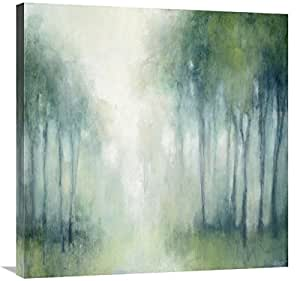 Global Gallery Julia Purinton, Walk in the Woods Giclee 拉伸帆布艺术画,76.2 x 76.2 cm