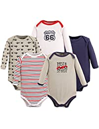 Luvable Friends 婴儿中性款长袖紧身衣5件 Speedy 12-18 Months