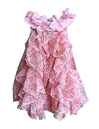 WZSYGDTC 0-24 个月婴儿花童连衣裙连身衣连衣裙 花卉色 18-24 Months