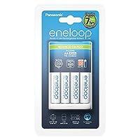 Panasonic 松下 eneloop 智能高端充電器 帶 4 × eneloop AA 電池 適用于 1 - 4 節鎳氫電池 AA/AAA