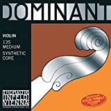 Thomastik-Infeld 135B.12 Dominant Violin Strings, Complete Set, 135B, 1/2 Size, With Chrome Steel Ball End E String