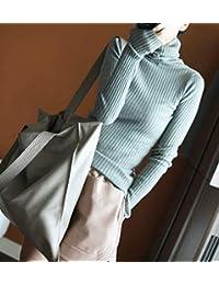 DaiQimi 黛琪迷 羊绒衫韩版套头针织羊毛纯色修身长袖打底衫女