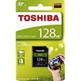 东芝 128GB N203 SDXC UHS-I 卡 U1 Class 10 SD 卡 存储卡 100MB/s (THN-N203N1280A4)