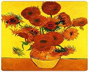 Rikki Knight Van Gogh Art Still Life and 15 Sunflowers 设计,高清博物馆级品质铝印刷,17.78 x 12.70 厘米