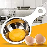 IOQSOF 不锈钢育克白分离器厨房小工具烘焙工具,食品级蛋分隔器,银色