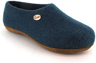 WoolFit 经典款 – 封闭式后背毛毡拖鞋,7 毫米可拆卸毛毡鞋垫   适合*镶嵌