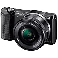 Sony 索尼 ILCE-5000L/B 微单™ 数码相机 单镜套装(E PZ 16-50mm F3.5-5.6 OSS)  (黑色)