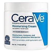 CeraVe 滋润霜19盎司(约539克)适合干性皮肤的日常面部和身体保湿霜