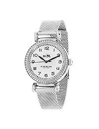 Coach Madison 14502651 银色不锈钢网面表带 Glitz 表圈女式手表