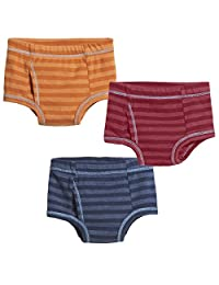 City Threads 男孩全棉内裤 3 件装,适合敏感肌肤,美国制造