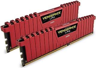 CORSAIR 海盗船 Vengeance LPX 16GB(2x8GB)DDR4 DRAM 2400MHz C16桌面内存套装 - 红色(CMK16GX4M2A2400C16R)