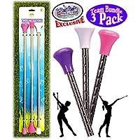 Mİtty's Toy Stop 豪华旋转巴顿粉色、白色和紫色团队礼品套装 - 3 件装