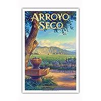 Pacifica Island Art - Arroyo Seco Wineries - Sycamore Cellars - Central Coast AVA Vineyards - California Wine Country Art 来自 Kerne Erickson - Master Art Print 12 x 18 in PRTBCS132