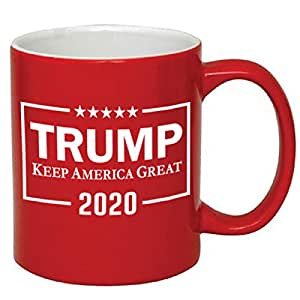 P&B Donald Trump, Make America Great Again 陶瓷咖啡杯 Red/Trump_2 11 oz.