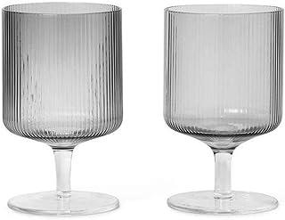 Ferm Living 100488211 酒杯 灰色 H 12,5cm x Ø 7,5cm 100489112