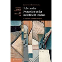 Substantive Protection under Investment Treaties: A Legal and Economic Analysis (Cambridge Studies in International and Comparative Law Book 110) (English Edition)