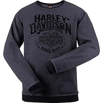 Harley-Davidson * - 圆领运动衫 - 海外巡回演唱会旗帜 炭黑色 Medium