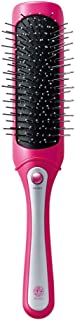 小泉 美发按摩梳 细长型 Bijona 音波振动磁按摩 干电池式 玫红色 KBE-2900/VP