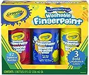 Crayola 绘儿乐 大胆可洗手指画套装,瓶装,原色,3件套