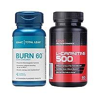 GNC 健安喜 左旋肉碱-运动加强型60粒+ Burn瓜拉纳科学燃脂60片
