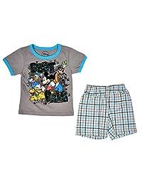 Disney 男童米老鼠林格 T 恤和短裤套装 2 件套套装