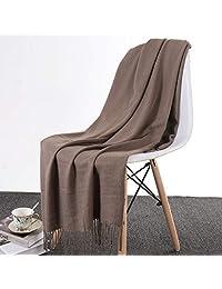 贴心羊 冬季纯色厚款围巾保暖200*70
