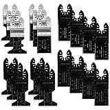 Leberna 金属/木制振荡多工具快速释放锯片适合脚部多主端口电缆黑色&Decker Bosch Dremel Craftsman Ridgid Ryobi Milwaukee Dewalt Rockwell 芝加哥染色刀