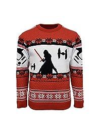 官方星球大战凯洛·伦圣诞毛衣 L 红色 标准