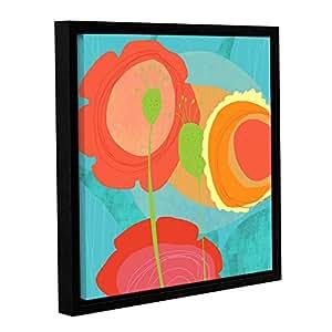 """ArtWall Jan Weiss Feeling Like Aqua II Gallery-Wrapped Floater-Framed Canvas Artwork, 14 by 14"""""""