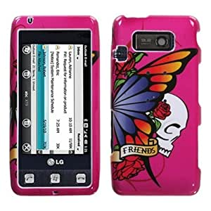 MYBAT LGVS750HPCIM607NP Compact and Durable Protective Cover for LG: VS750 (Fathom) - 1 Pack - Retail Packaging - Best Friend Hot Pink