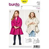 Burda 儿童图案 9353 外套,白色,纸张,19 x 14 x 0.5 厘米