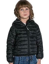 CHERRY CHICK 儿童超轻可折叠连帽羽绒服夹克