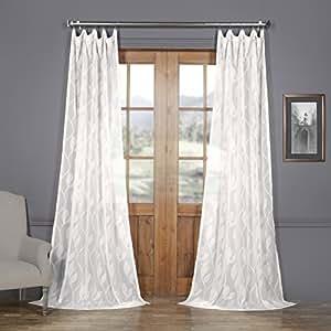 avignon 藤蔓图案人造亚麻透明薄纱窗帘