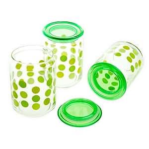 韩国进口 THE GLASS 得客乐 储存罐套装3件套 AGR10AB