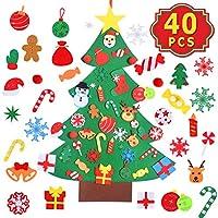 Max Fun DIY 毛毡适合生日,各种节日派对礼物 Christmas Tree DIY Felt Crafts