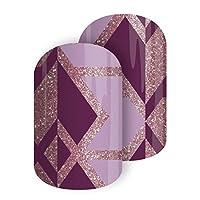 Color Clique - Jamberry *贴 - 粉色闪耀几何图案 Half Sheet - 1 manicure / 1 pedicure
