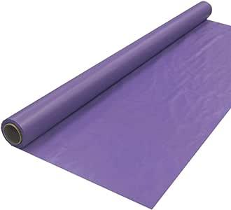 "Party Essentials 耐用塑料宴会桌巾卷,21 种颜色可选,40英寸(约101.6厘米) x 150英尺(约45.7米),黑色 皇家紫色 40"" x 100' 4010RP"