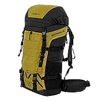 BIGPACK派格 户外登山包 徒步包 双肩包 旅行包50L55L60L (黄色, 50L)