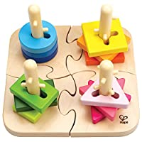 Hape Creative Toddler Wooden Peg Puzzle