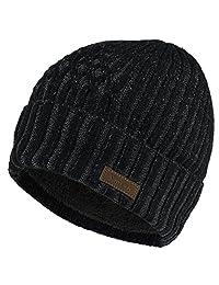 Vmevo 羊毛翻边无檐小便帽保暖冬季针织帽骷髅帽带内衬男女皆宜