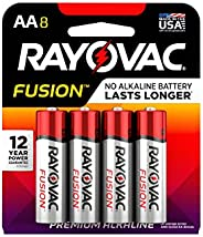 FUSION by Rayovac High-Performance 9V Alkaline Batteries AA 8