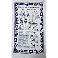 航海 - 航海点术语和使用服装/织物海报/茶毛巾