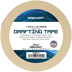Pro Art 1-Inch by 36-Yards Drafting Tape
