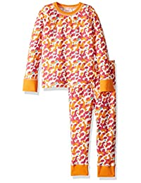 Masala 女童小有机睡衣,L/S 码,淡粉色
