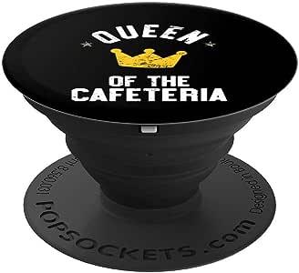 Queen Of The Cafeteria 午餐女礼物 - PopSockets 手机和平板电脑握架260027  黑色