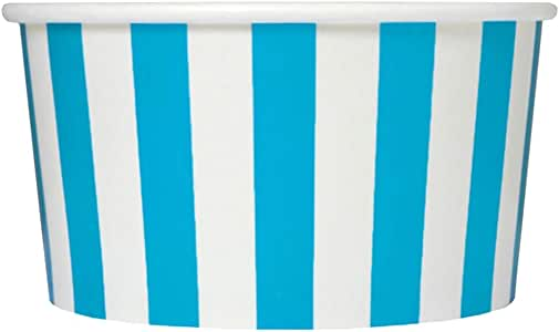冰雪奇缘甜点用品 170.10 g 纸冰淇淋杯 条纹蓝色 06BLUESMADCUP-SQ0050
